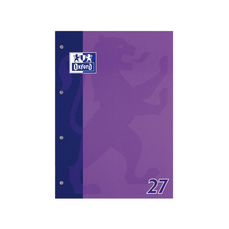 Oxford Schulblock DIN A4 50 Blatt kopfgeleimt Lineatur 27