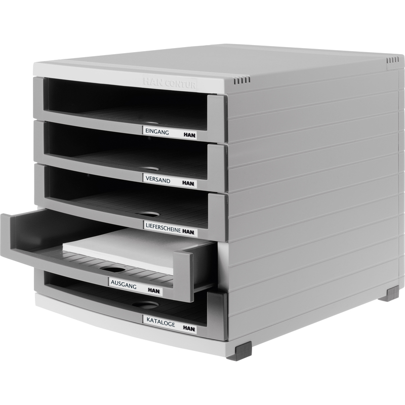 han schubladenbox contur 5 offene sch be lichtgrau 1505 0 19 bei g nstig kaufen. Black Bedroom Furniture Sets. Home Design Ideas