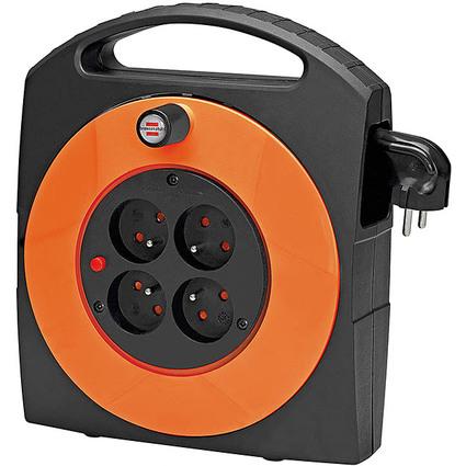 brennenstuhl Kabelbox Primera-Line,schwarz/orange,Kabel:15 m
