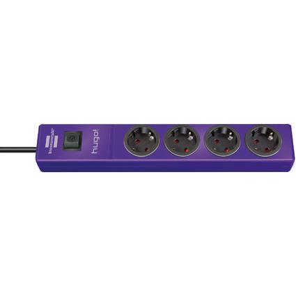 brennenstuhl Steckdosenleiste hugo!, 4-fach, violett