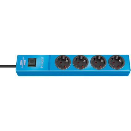 brennenstuhl Steckdosenleiste hugo!, 4-fach, blau