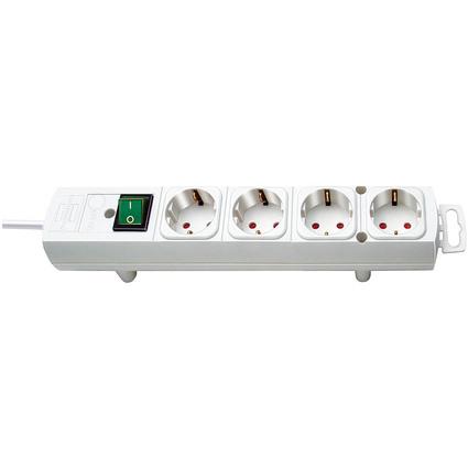 brennenstuhl Steckdosenleiste Comfort Line, 4-fach, weiß