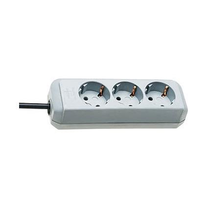 brennenstuhl Steckdosenleiste Eco-Line, 3-fach, lichtgrau