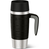 emsa isolierbecher TRAVEL mug HANDLE, 0,36 L., schwarz