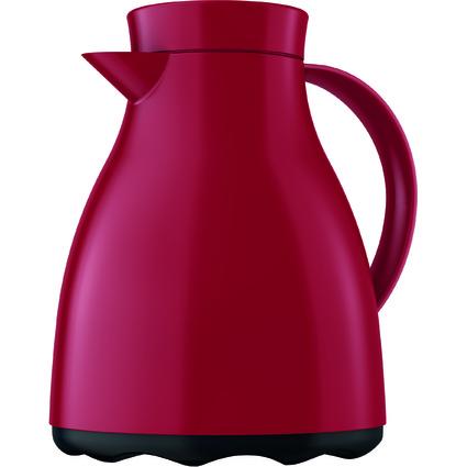emsa Isolierkanne EASY CLEAN, 1,0 Liter, weinrot