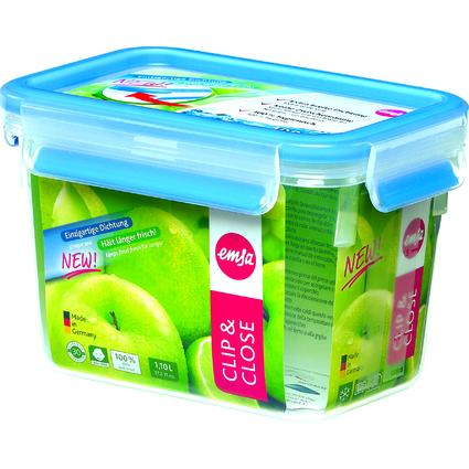 emsa Frischhaltedose CLIP & CLOSE, 1,10 Liter, transparent
