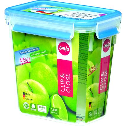 emsa Frischhaltedose CLIP & CLOSE, 1,60 Liter, transparent