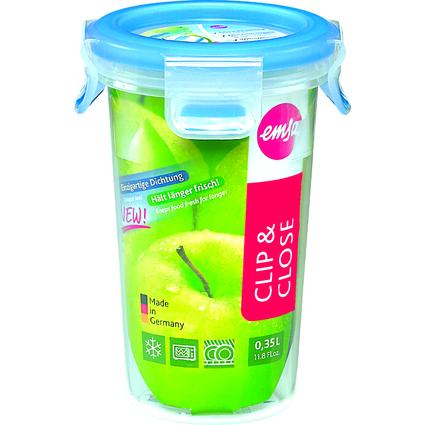 emsa Frischhaltedose CLIP & CLOSE, 0,35 Liter, transparent