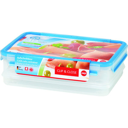 emsa Aufschnittbox CLIP & CLOSE, 1,65+1,0 Liter, transparent