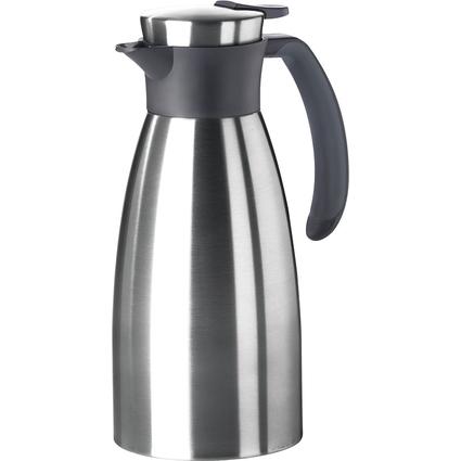 emsa Isolierkanne SOFT GRIP, 1,0 Liter, schwarz / Edelstahl