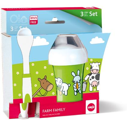 emsa Kindergeschirr Baby-Set FARM FAMILY, 3-teilig, grün