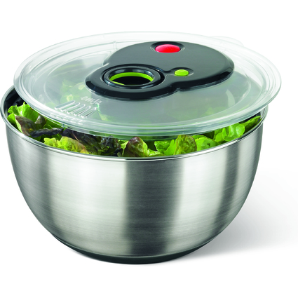 emsa Salatschleuder TURBOLINE, 4,5 Liter, Edelstahl