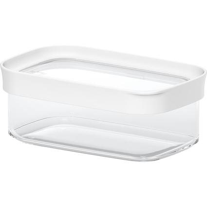 emsa Trockenvorratsdose OPTIMA, 0,45 Liter, transparent/weiß