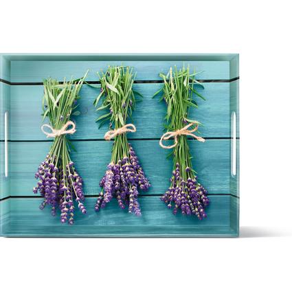 emsa Serviertablett CLASSIC, Motiv: Lavender, 400 x 310 mm