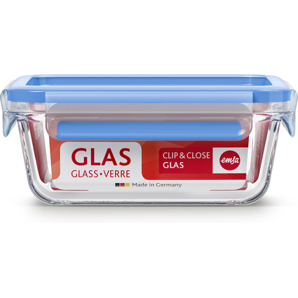 emsa Frischhaltedose CLIP & CLOSE Glas, 0,90 Liter