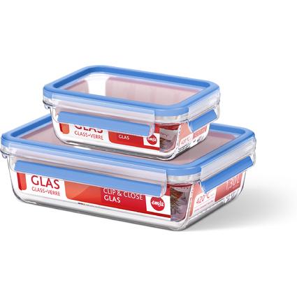 emsa Frischhaltedose CLIP & CLOSE Glas, 0,50 Liter
