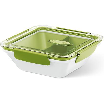 emsa Mikrowellendose BENTO BOX, 0,90 Liter, weiß/grün