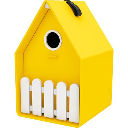emsa Vogelhäuschen LANDHAUS, Kunststoff, gelb