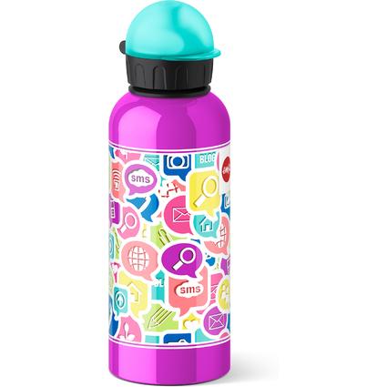 emsa Trinkflasche TEENS, Motiv: Chat, 0,6 Liter