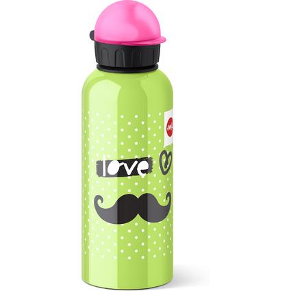emsa Trinkflasche TEENS, Motiv: Moustache, 0,6 Liter
