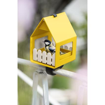 emsa Vogel Futterhaus LANDHAUS, Kunststoff, gelb