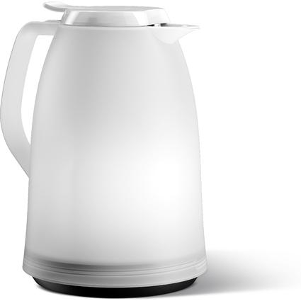 emsa Isolierkanne MAMBO, 1,0 Liter, weiß-transluzent