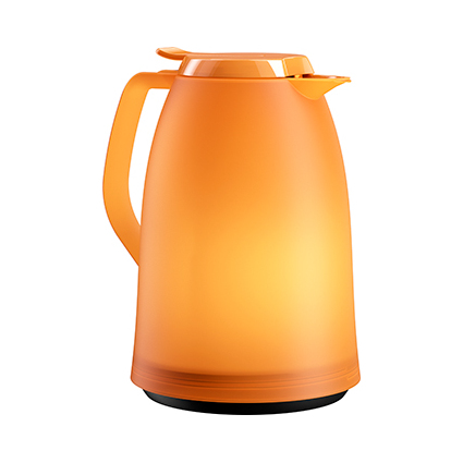 emsa Isolierkanne MAMBO, 1,0 Liter, orange-transluzent