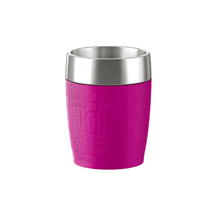 emsa Isolierbecher TRAVEL CUP, 0,20 L., Manschette pink