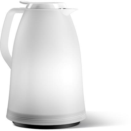 emsa Isolierkanne MAMBO, 1,5 Liter, weiß-transluzent