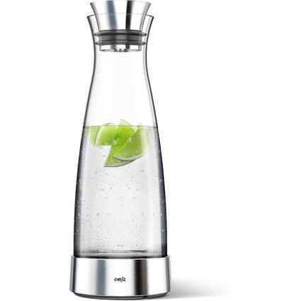 emsa Kühlkaraffe CLASSIC, 1,0 Liter, Glas/Edelstahl
