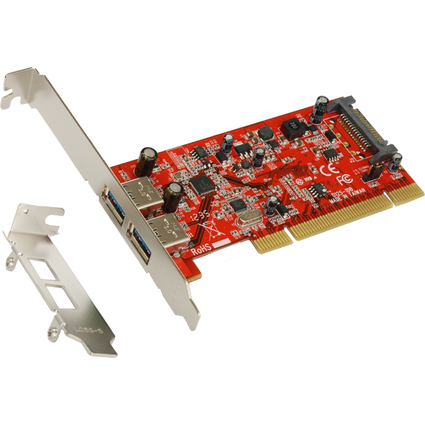 EXSYS USB 3.0 PCI Karte, 1 Port, FrescoLogic Chip-Set