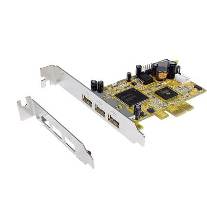 EXSYS USB 2.0 PCI-Express Karte, 3 + 1 Port, NEC Chipsatz