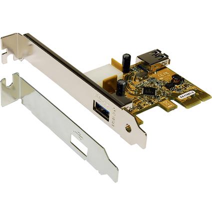 EXSYS USB 3.0 PCI-Express Karte, 1 Externen+1 Internen Port