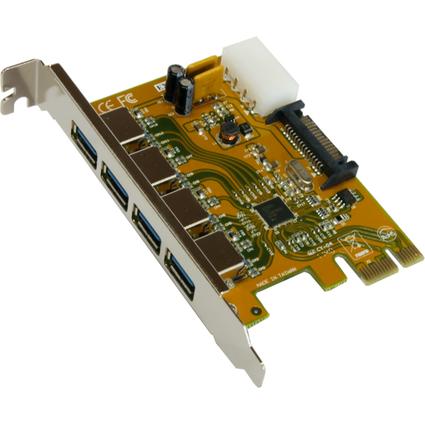 EXSYS USB 3.0 PCI-Express Karte, mit 4 externen Port