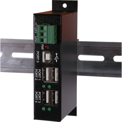 EXSYS USB 2.0 Hub, für industrielle Anwendung, 4 Port