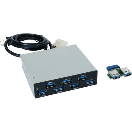 """EXSYS Interner USB 3.0 Hub, 7 Port, für 3.5"""" Front-Einbau"""