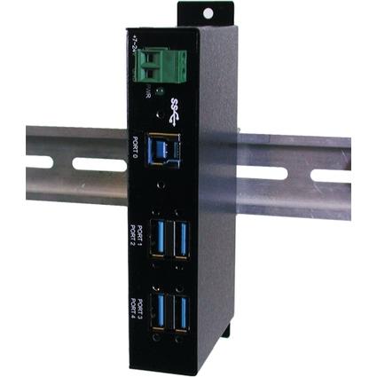 EXSYS USB 3.0 Metall HUB, für industrielle Anwendung, 4 Port