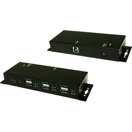 EXSYS USB 3.0 Metall HUB, 1.500 mA auf allen 7 Ports