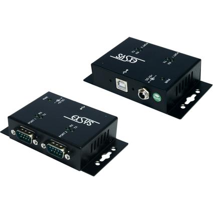 EXSYS USB 2.0 Konverter - 2 x serielle RS232 Schnittstelle