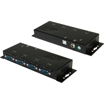EXSYS Konverter USB 2.0 - 4 x serielle RS232 Schnittstelle