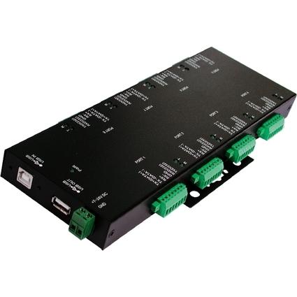 EXSYS Konverter USB 2.0 - 8x RS232/422/485, Surge Protection