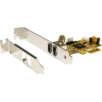 EXSYS FireWire 1394a PCI-Express Karte, 2 + 1 Port