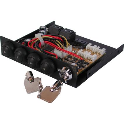 EXSYS Umschalter von 1 x SATA auf 4 x SATA Festplatten