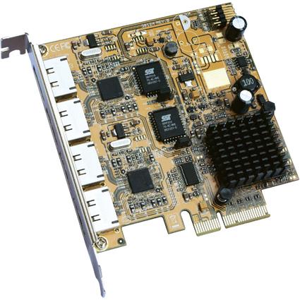 EXSYS eSATA II PCI-Express Raid Controller, 4 Port