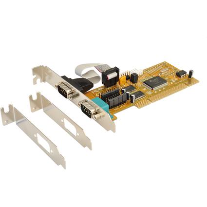 EXSYS Serielle 16C550 RS-232 PCI Karte, 2 Port, 32 / 64 Bit