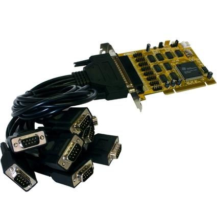 EXSYS Serielle 16C550 RS-232 PCI Karte, 8 Port, 32-Bit