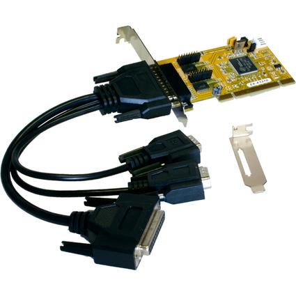 EXSYS Serielle 16C950 RS-232 PCI I/O Karte, 2 + 1 Port
