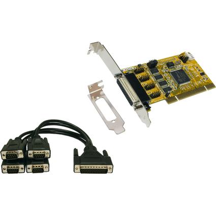 EXSYS Serielle 16C950 RS-232 Karte PCI, 4S, LowProfile