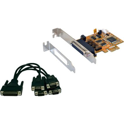 EXSYS Serielle 16C550 RS-232 Karte PCIe, 4S