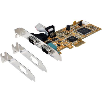 EXSYS Serielle 16C950 RS-232 PCI-Express Karte, 32/64 Bit